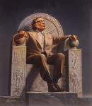 Isaac Asimov by Rowena Morrill